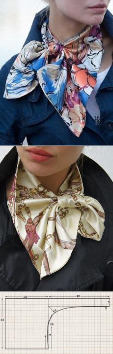 Французский шарфик (выкройка).
