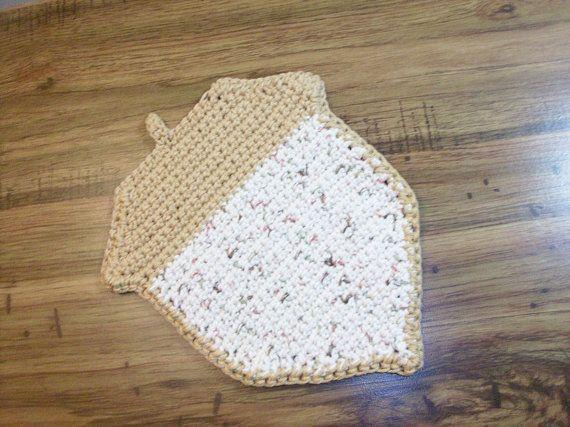 Acorn Shaped Cotton Dishcloth/Washcloth  by CoastalCrochetCrafts