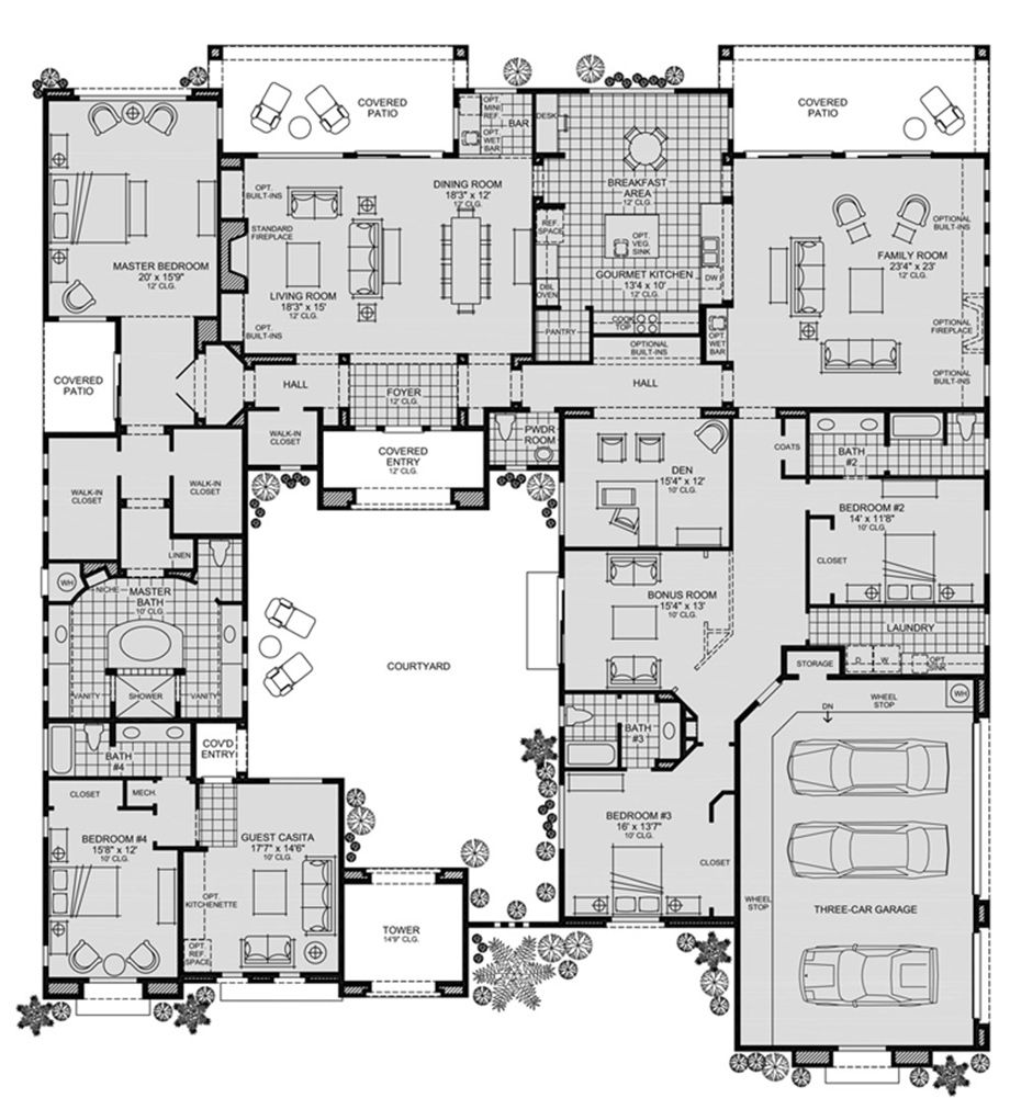 Toll Brothers - Cholla - Floor Plan | House ideas | Pinterest ...