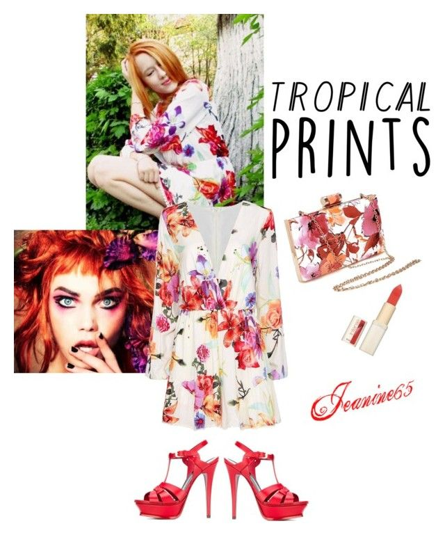 """""""Tropical Prints"""" by jeanine65 ❤ liked on Polyvore featuring Yves Saint Laurent and L'Oréal Paris"""