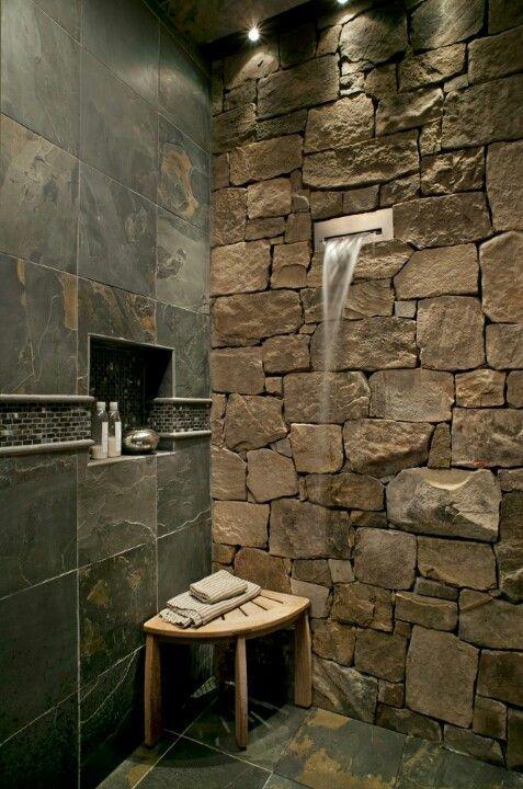 Decorative Slate Wall Tiles Rock Tile And Shower Head  Decorative Tile  Pinterest