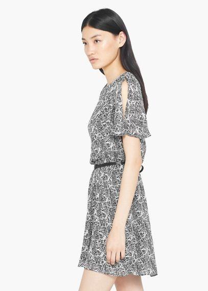 Butterfly print dress | MANGO