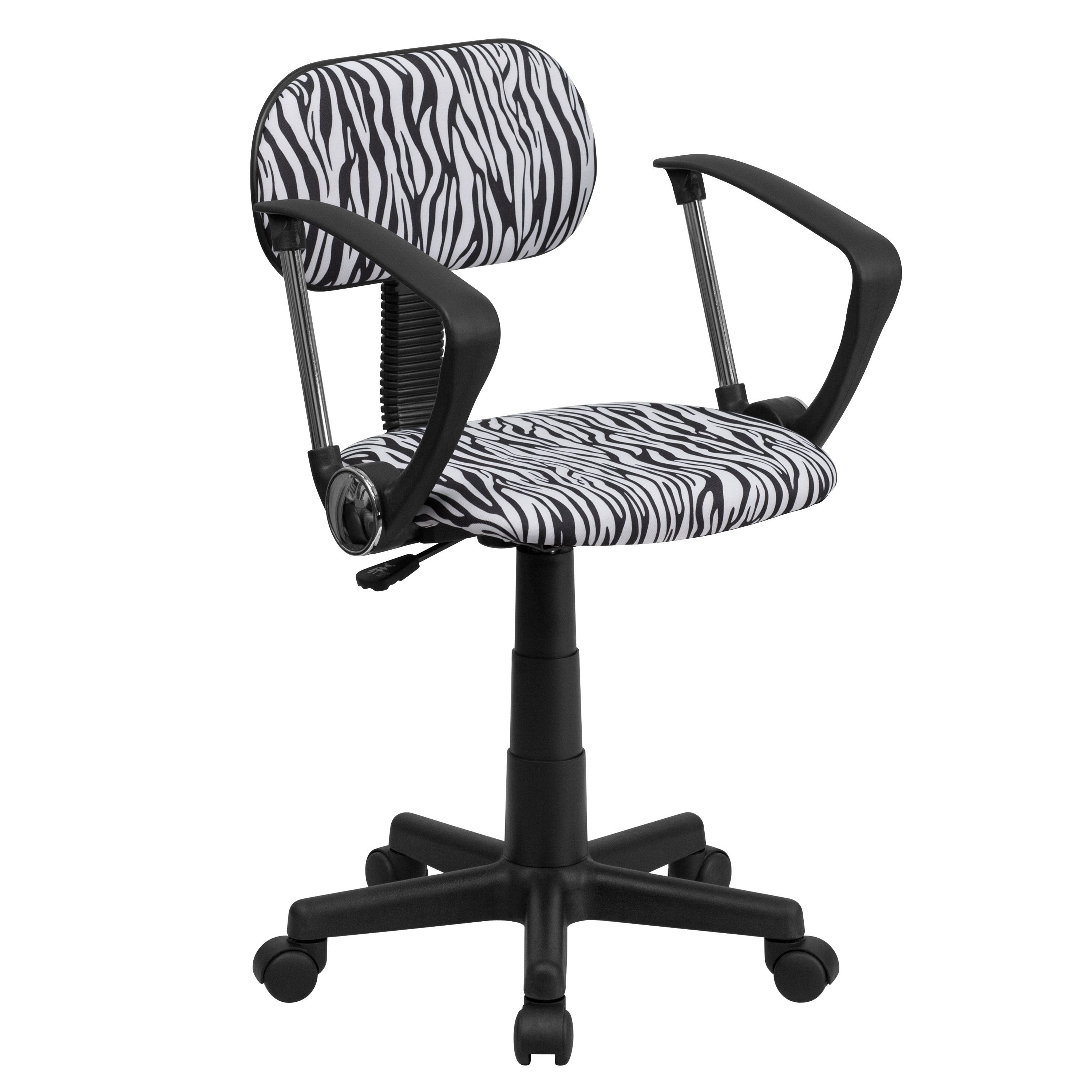 Flash Furniture Zebra Print Computer Chair with Arms