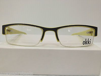 NEW AUTHENTIC OKKI 332 COL 472 GREY PLASTIC EYEGLASSES FRAME HAND MADE ITALY