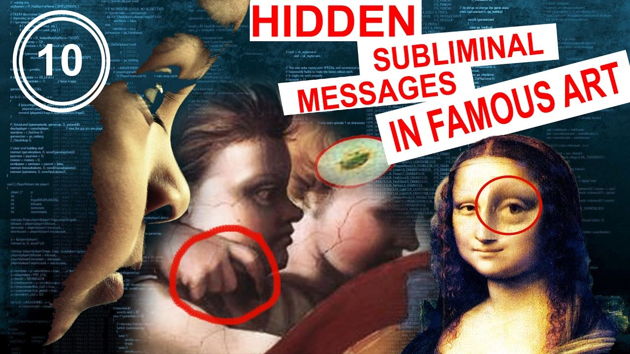 🏍 10 SECRET Hidden Subliminal Messages in Famous Art | Top 10 Facts