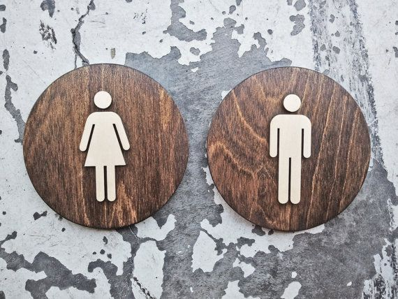 Womens Mens Office Restroom Sign Set Wc Signage 6 9 Or 12