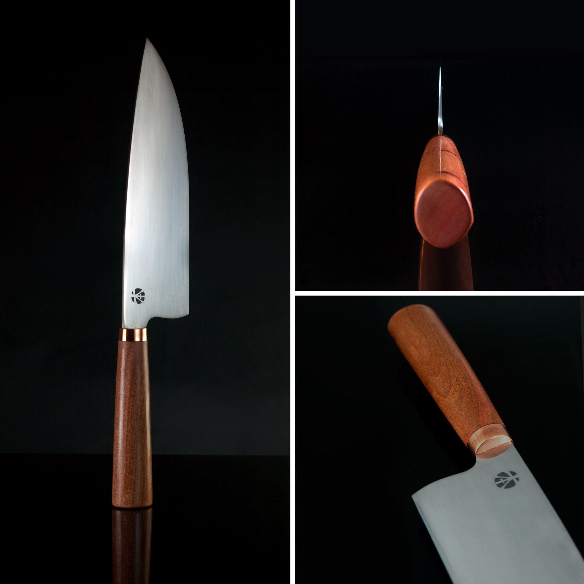 Custom 10 Chef Knife In Bohler N690 Stainless Steel The Japanese D Shaped Left Hand Specific Handle Feat Knife Shapes Kitchen Knives Japanese Kitchen Knives