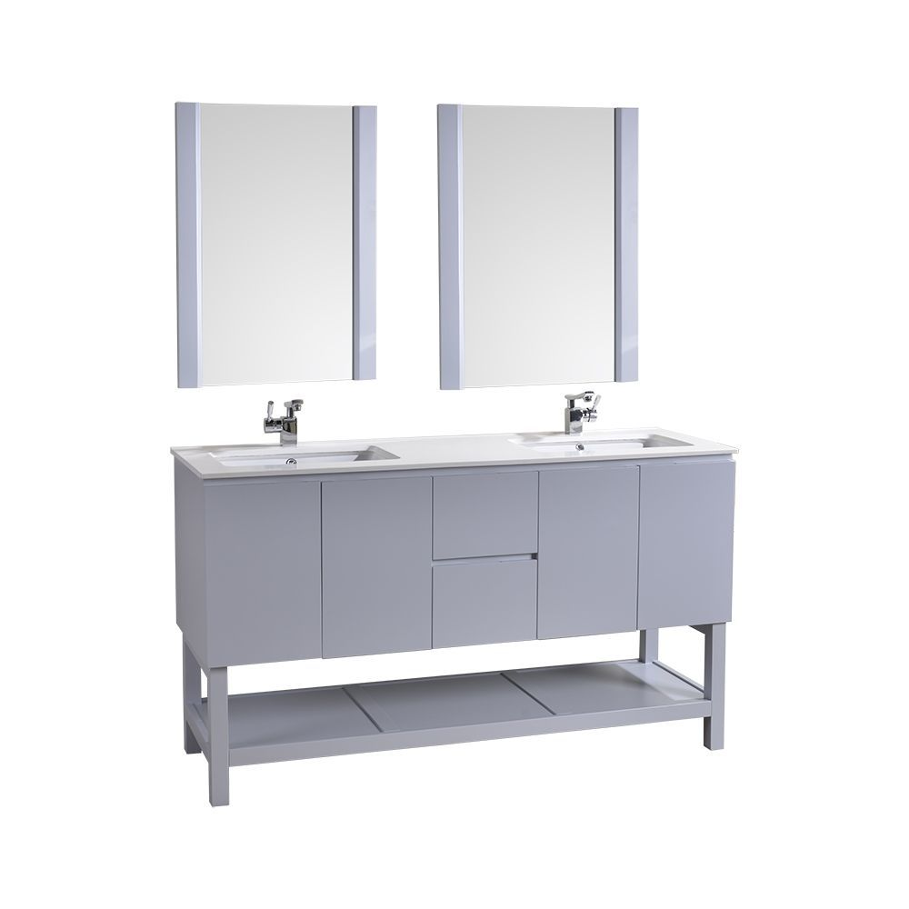 Bathroom Vanities Bathroom Vanities Clearance Hk350160lg 60 Double Modern Bathroom B Bathroom Vanity Double Vanity Bathroom Contemporary Bathroom Vanity