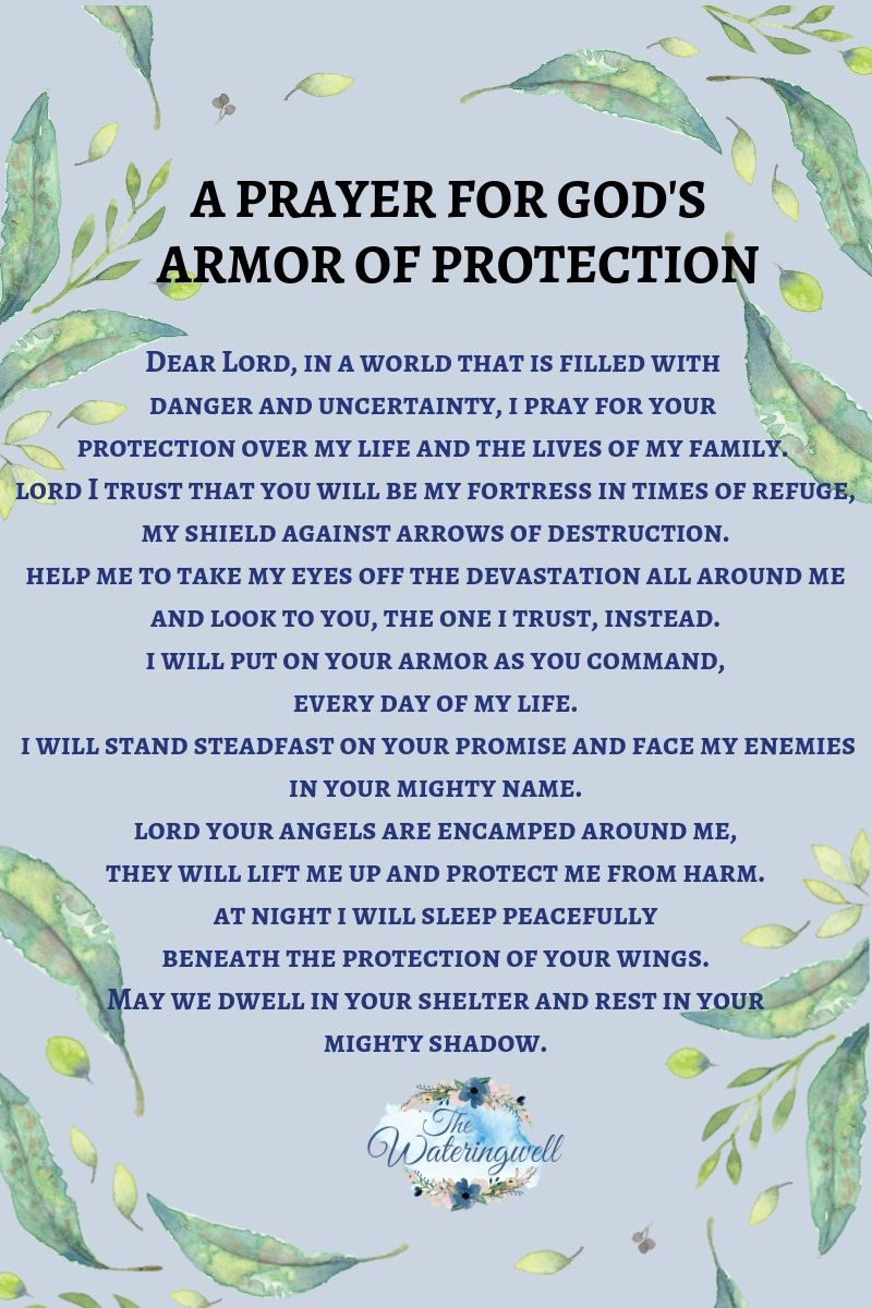 How the armor of God provides protection for us - The Wateringwell