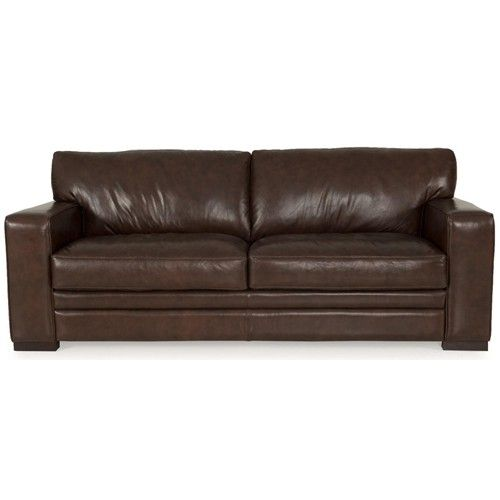 7203 Three Piece Sectional Sofa By Futura Leather: 8226 Contemporary Brown Leather Sofa By Futura Leather