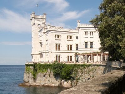 Trieste - the enchanting 19th century castle built for Massimiliano of Hauptburg's. Built with the typical white stone of Istria, the same as The Capitol Hill in DC.  The Castle is remembered also for a famous Giosuè Carducci's poem
