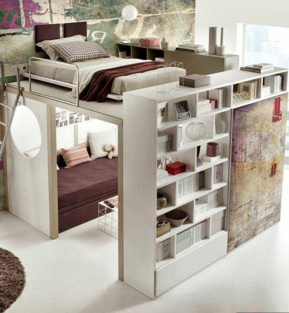 ein erstaunliches Bett mit mehreren Modulen Teenager