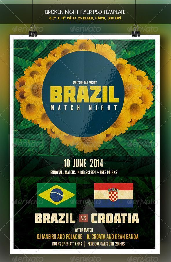 Brazil Match Party 2 Brazil 14 Flyer Check More At Http Fifa Worldcup Info Brazil Match Party 2 Brazil 14 Flyer Event Flyer Event Flyer Templates