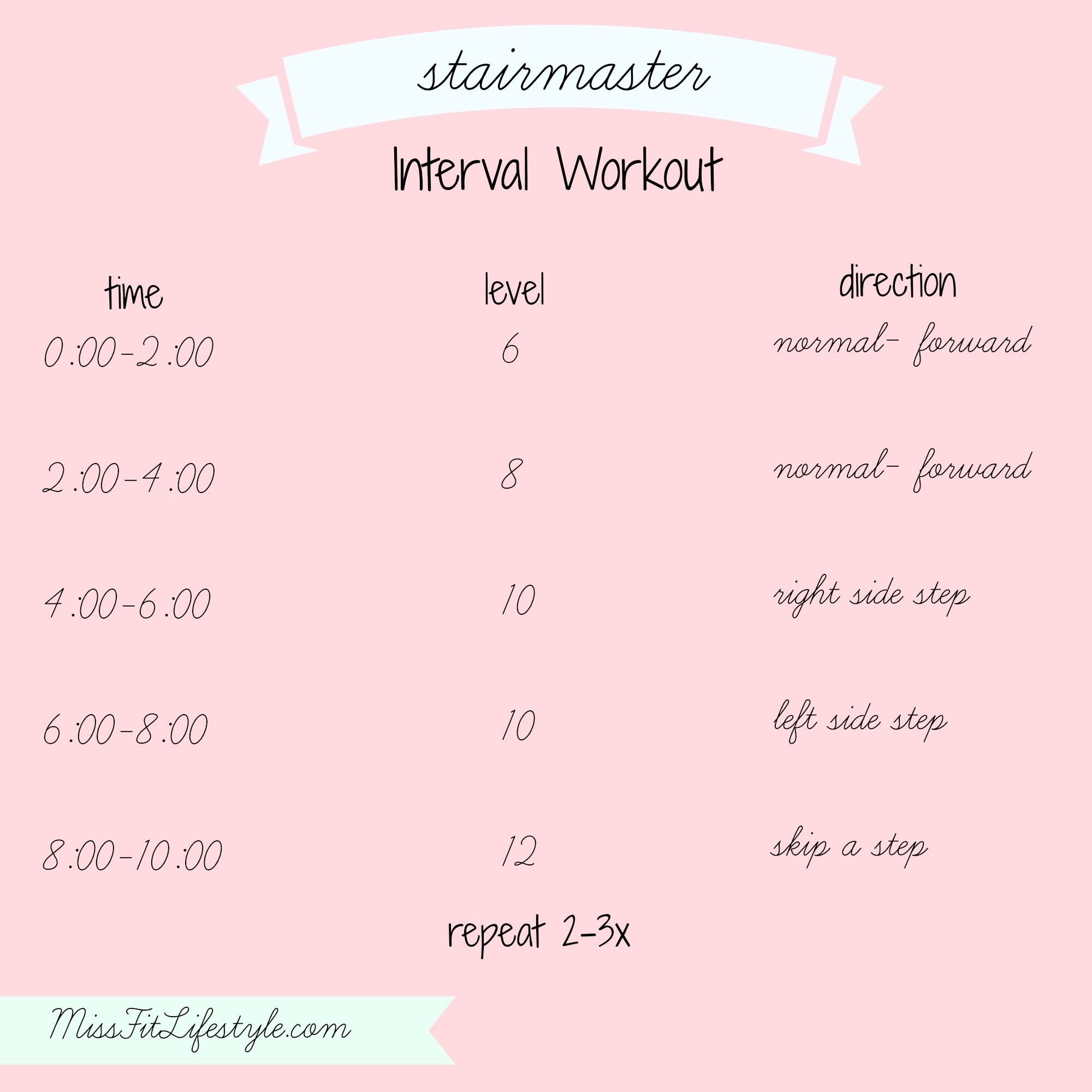 Stairmaster Interval Workout | Miss Fit Lifestyle: Fitness ...