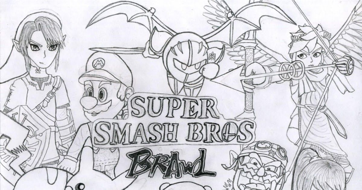 Super Smash Bros Ultimate Coloring Pages In 2020 Super Coloring