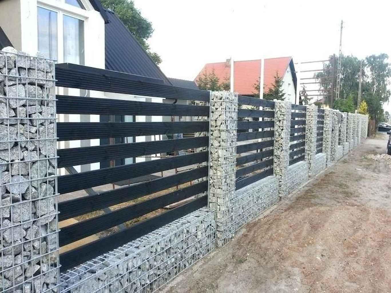 50 Gorgeous Gabion Fence Design For Garden Ideas House Fence