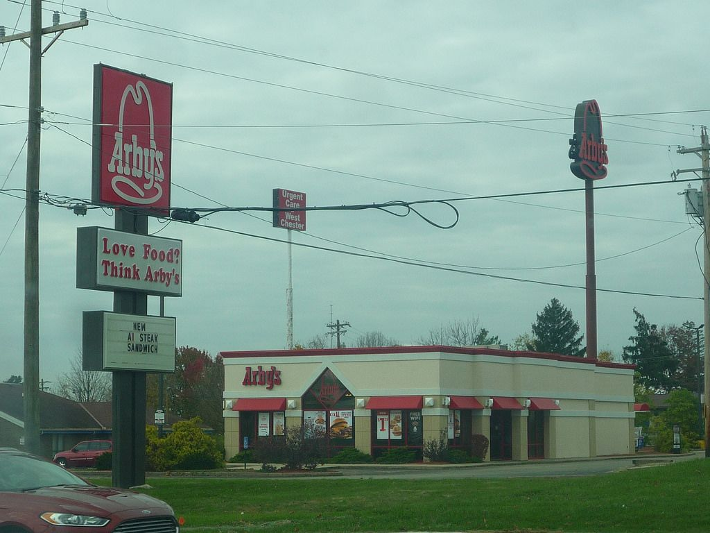 Arbys In West Chester Ohio With Love Food Think Arbys Slogan On