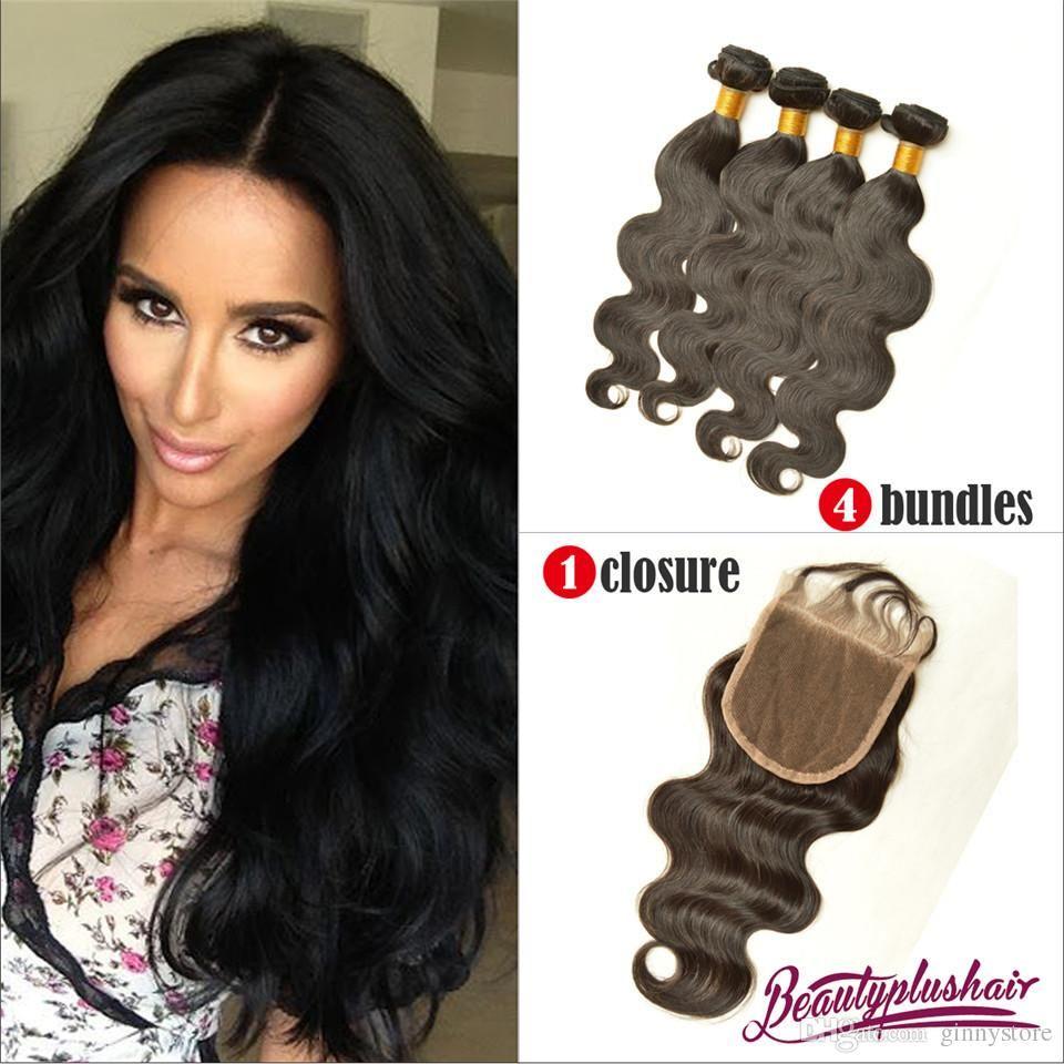 Wholesale Hair Weave Distributors Brazilian Virgin Hair With Closure