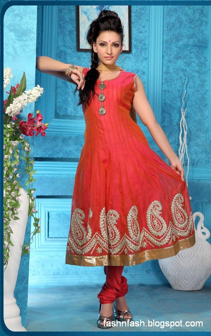 Stylish white dress wedding umbrella frocks churidar designs - Fashion Fok Anarkali Umbrella Frocks Anarkali Fancy Winter Frock Clothes New Latest Indian Suits Fashion Dresses