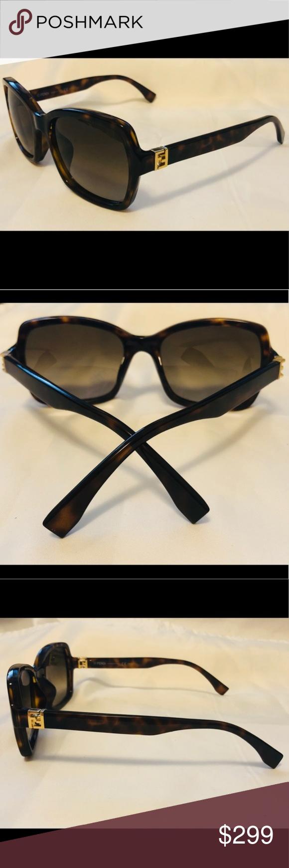 2f8ffc993c5 New Fendi Dark Havana Sunglasses FF 0007 S New Fendi Dark Havana Sunglasses  Condition New