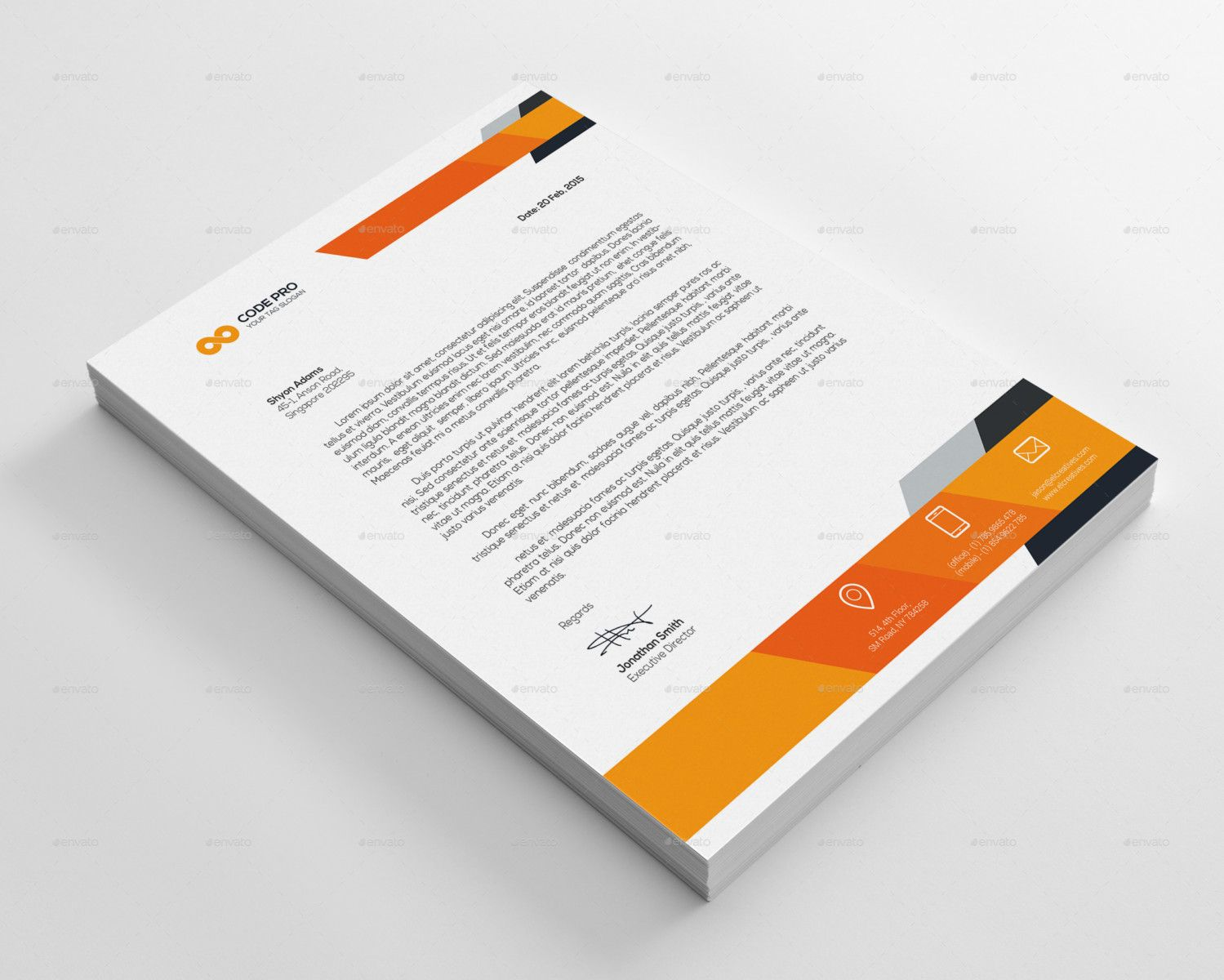 Corporate Business Letterhead Design Stationery Sample Free