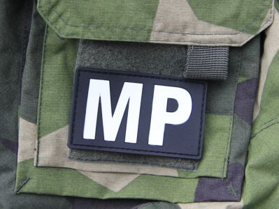 Military Police Velcro PVC Patch on sleeve