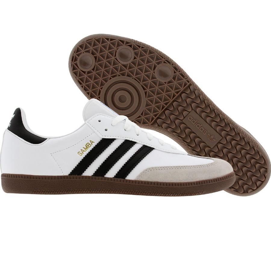 adidas samba 2 white/bone leather trainer
