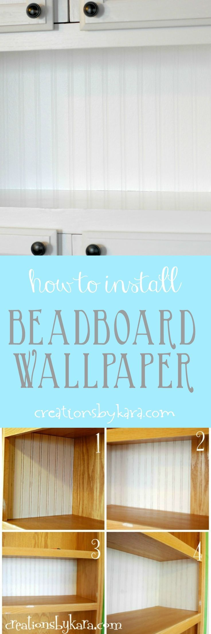 Learn how to install bead board wallpaper with this step by step ...