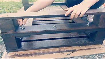 How to Make a Pallet Coffee Table Tutorialvideo Pallet coffee