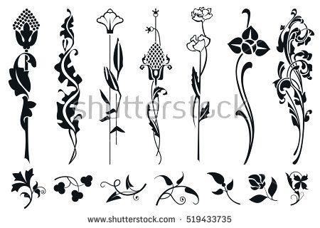 Art Nouveau Flowers Stock Images Royalty Free Images Vectors Art Nouveau Flowers Art Nouveau Tattoo Art Nouveau Pattern