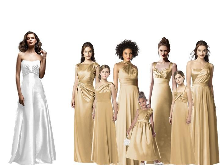 Golden Pantone Wedding Styleboard The Dessy Group