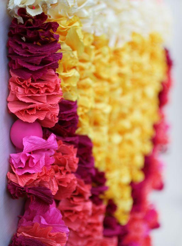 Crepe Paper Petals Wall Hanging | celebrate | Pinterest | Crepe ...