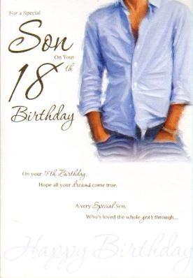 Special son 18th birthday birthday card birthday card httpwww special son 18th birthday birthday card birthday card httpamazon bookmarktalkfo Choice Image