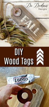 Ideas : Easy DIY Wood Tags