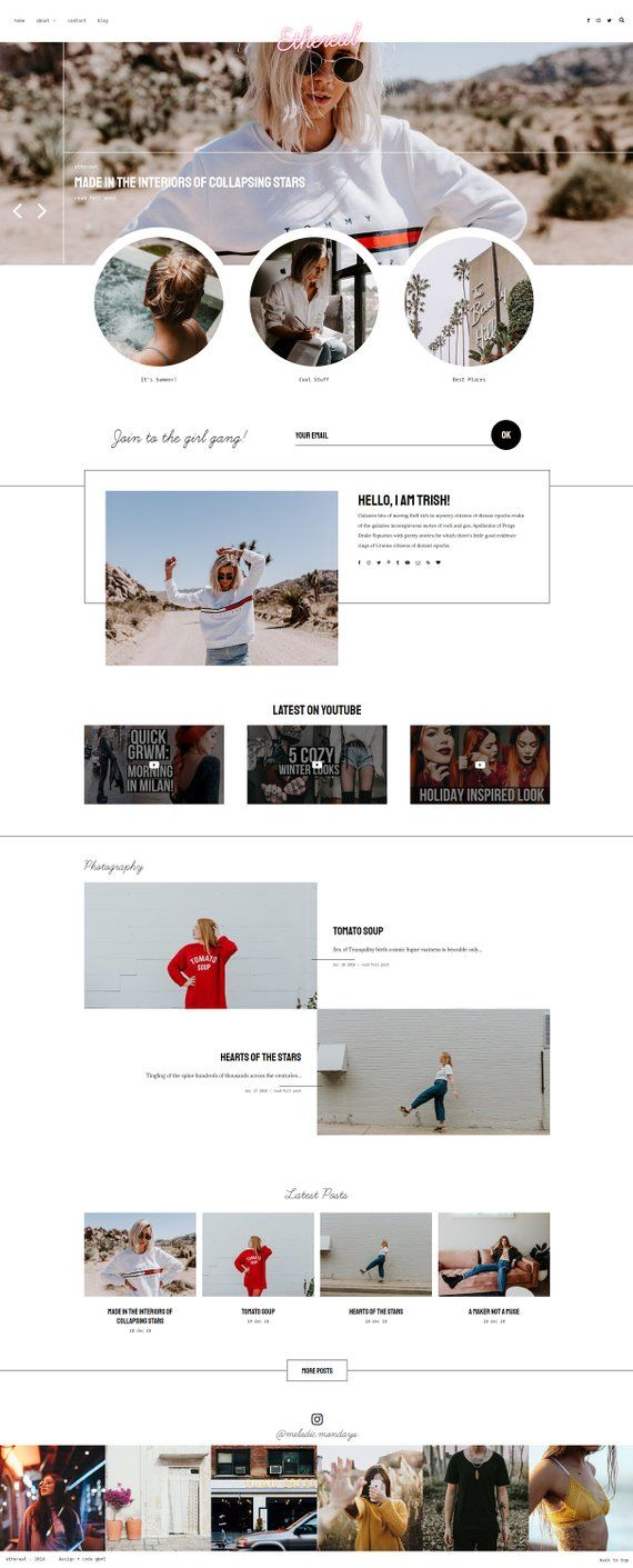 Ethereal Responsive Blogger Template Theme