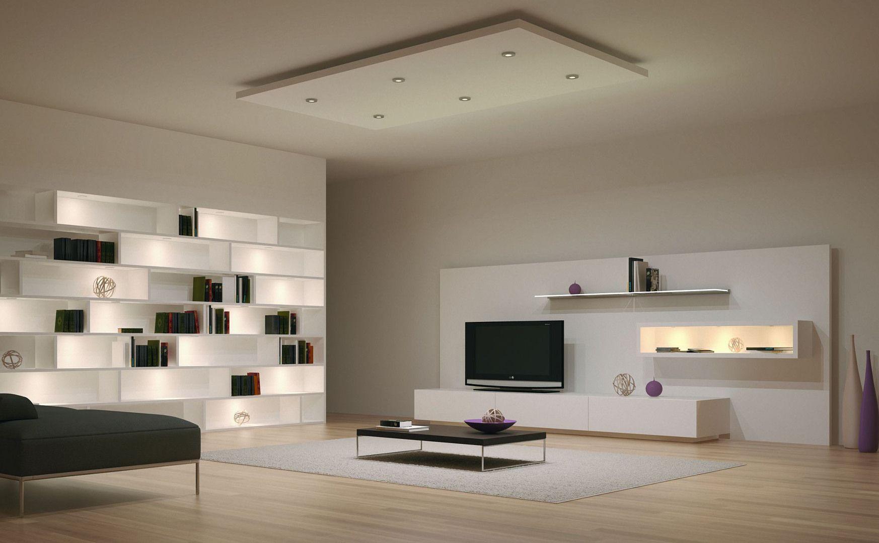 Illuminazione a led per salotto arredamento d interni nel