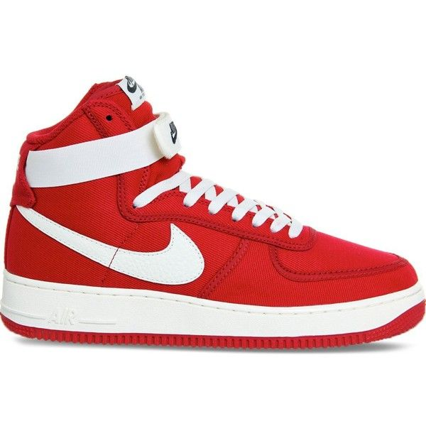 Nike Air Force 1 High Top Trainers Mens Red Shoes Red High Top