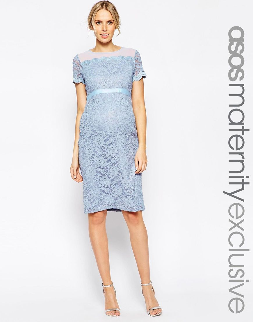 e3061736bb2 ASOS Maternity Body-Conscious Dress In Lace With Chiffon