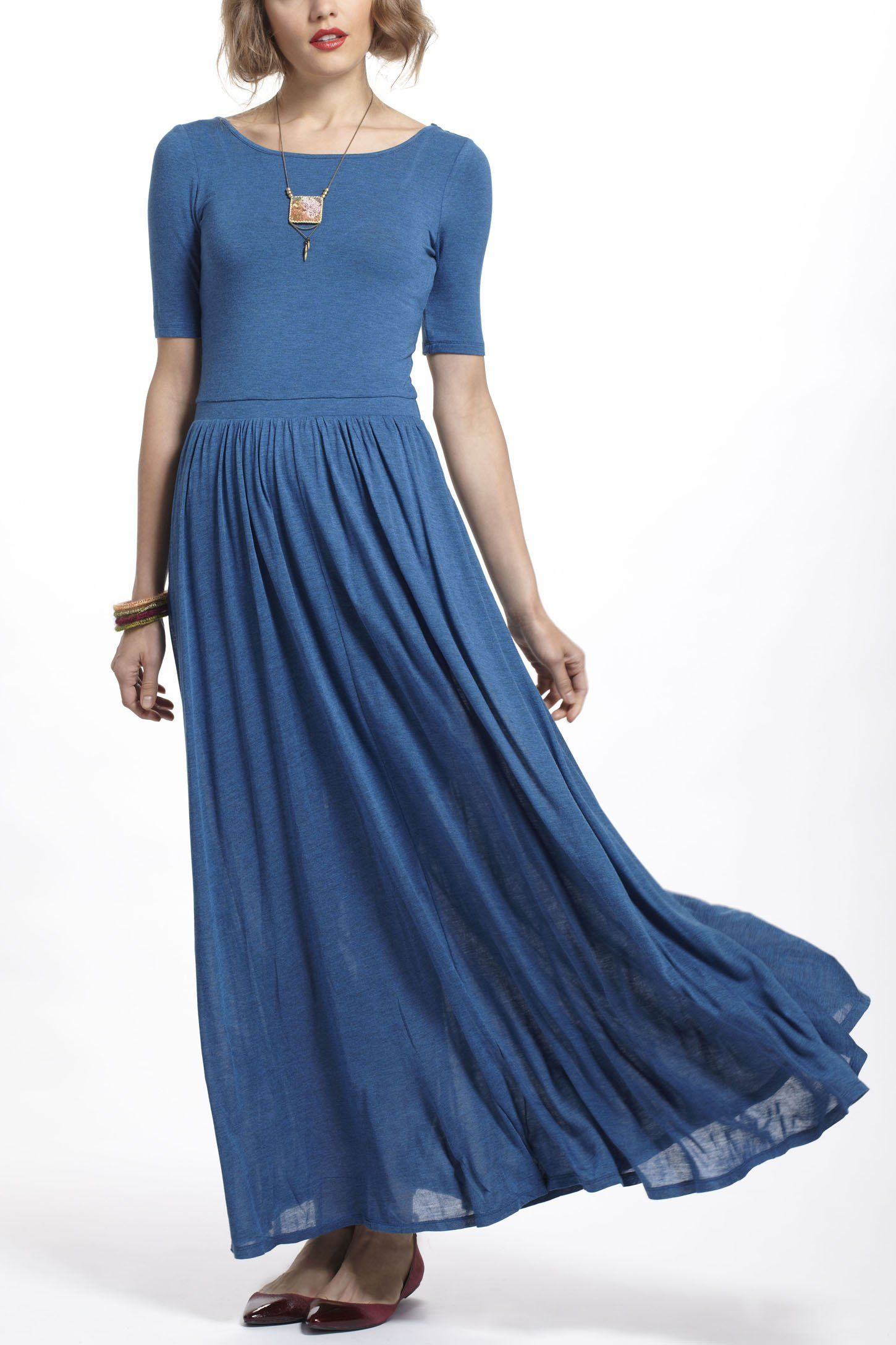 Scoopback maxi dress current wish for Anthropologie mural maxi dress
