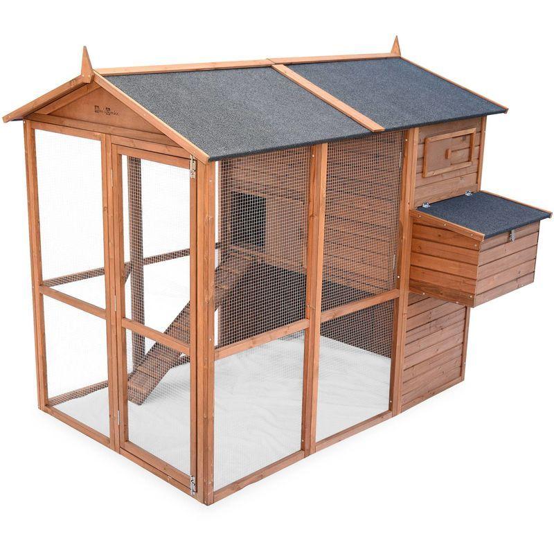 Poulailler En Bois Cotentine 6 A 8 Poules Cage A Poule Avec Enclos Ckc2016bn Poulailler Bois Cage A Poules Poulailler