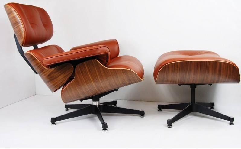 New Charles Eames Lounge Chair And Ottoman Rose Wood With Dark
