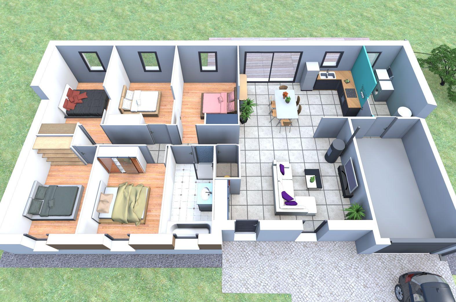 Plan de maison datis nl 5 personnalisable home staging archi design small house plans