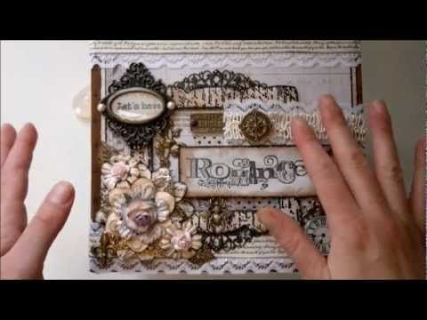Nature Garden Romantic vintage mini album part 1 - YouTube