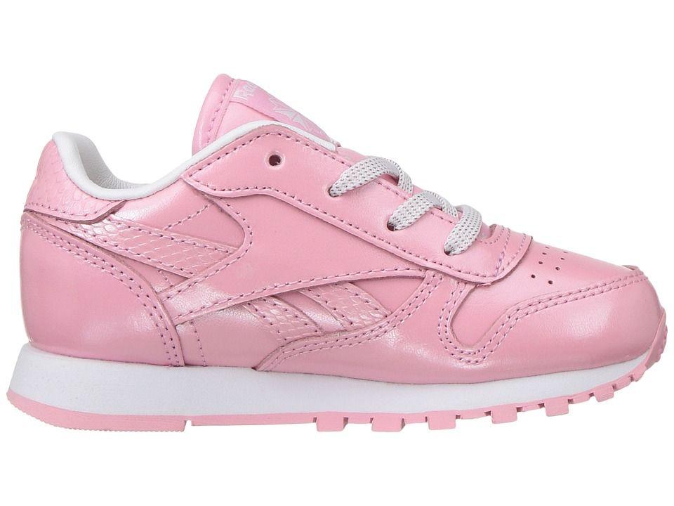 Reebok Classic Leather Metallic Girls Sneakers Pink