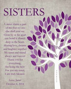 sisters gift print personalized gift for your sister wedding