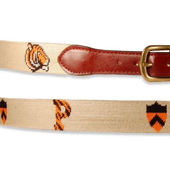 Princeton University Smathers & Branson Men's needlepoint tiger Cotton Belt for your favorite ivy league hunk