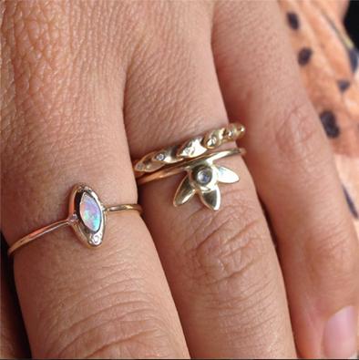 Dainty gold rings   Scosha