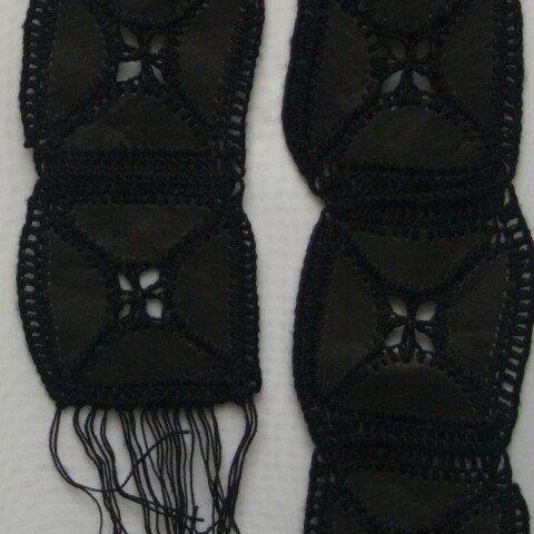 LEATHER Skinny scarf - Unisex at RezahDesignStudio on Etsy.com