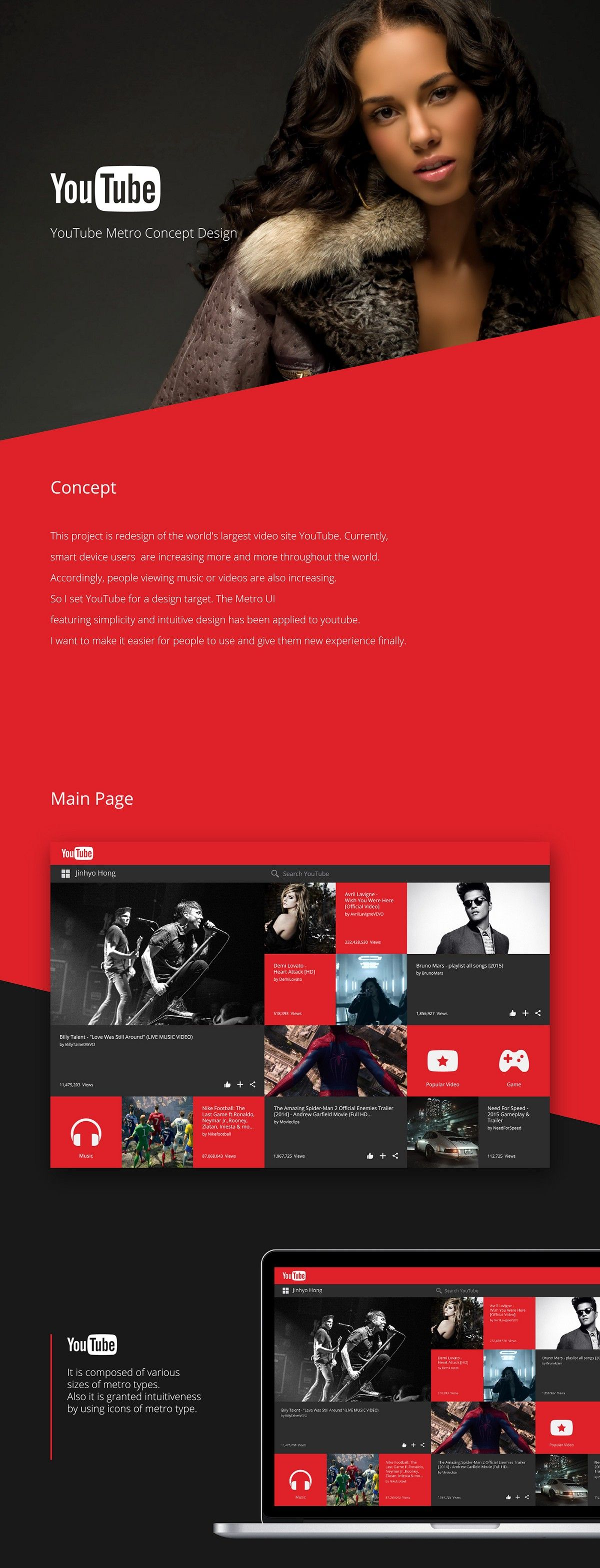 Redesign Concepts for Popular Websites #4