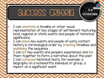 VICTORIAN CURRICULUM AU - Level 3-4 HISTORY Learning Goals ...